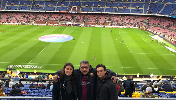 Pedro Pablo Host in Camp Nou