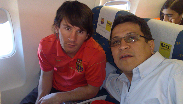 Pedro Pablo host with Messi